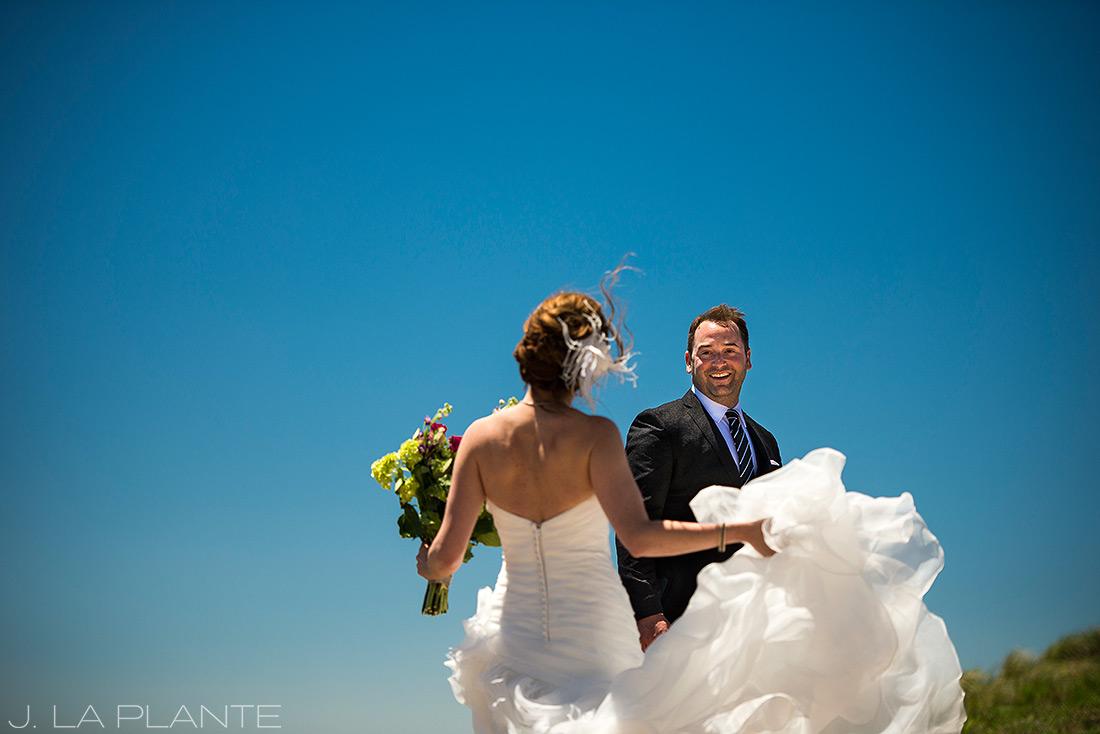 Vail Mountain Wedding | First look on mountain | Vail wedding photographer | J La Plante Photo