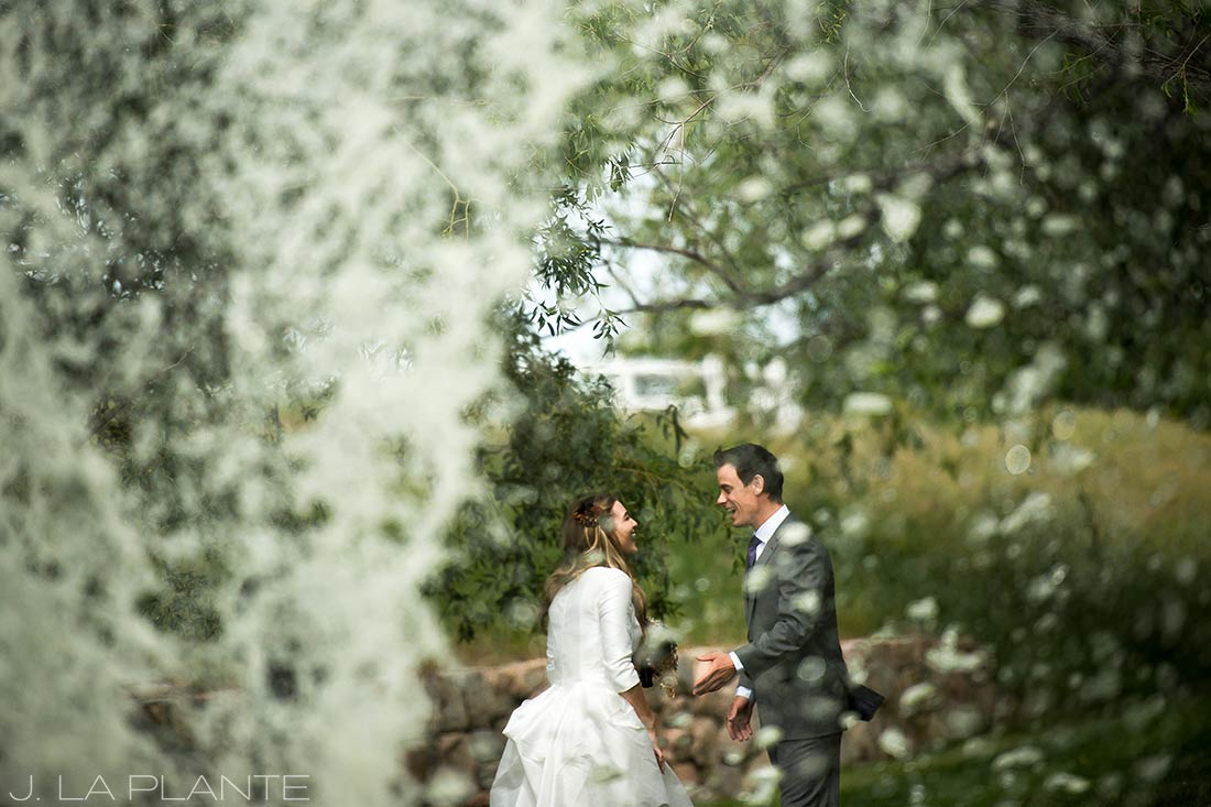 First look | Crooked Willow Farms Wedding | Denver Wedding Photographer | J La Plante Photo