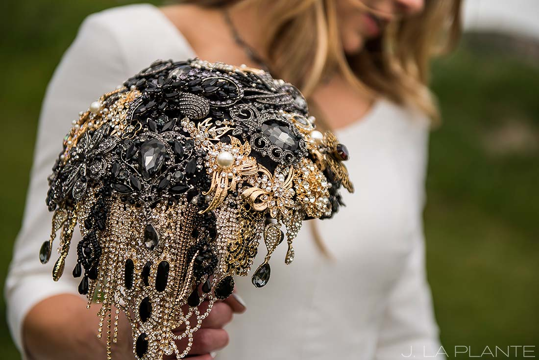 Brooch boquet | Crooked Willow Farms Wedding | Denver Wedding Photographer | J La Plante Photo