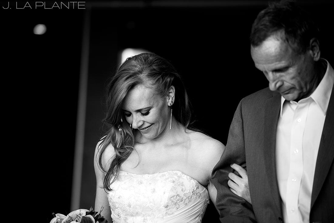 Mount Vernon Country Club Wedding | Father walking bride down aisle | Denver wedding photographer | J La Plante Photo