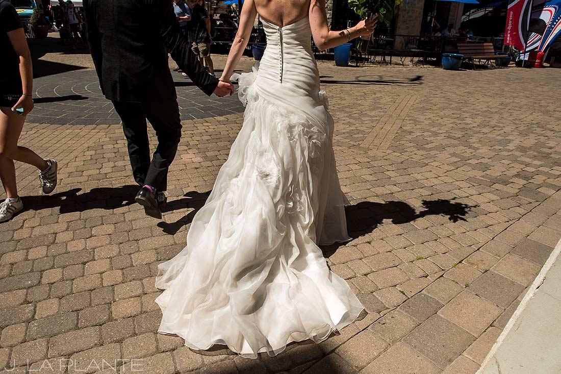 Vail Mountain Wedding | Walking in Vail Village | Vail wedding photographer | J La Plante Photo