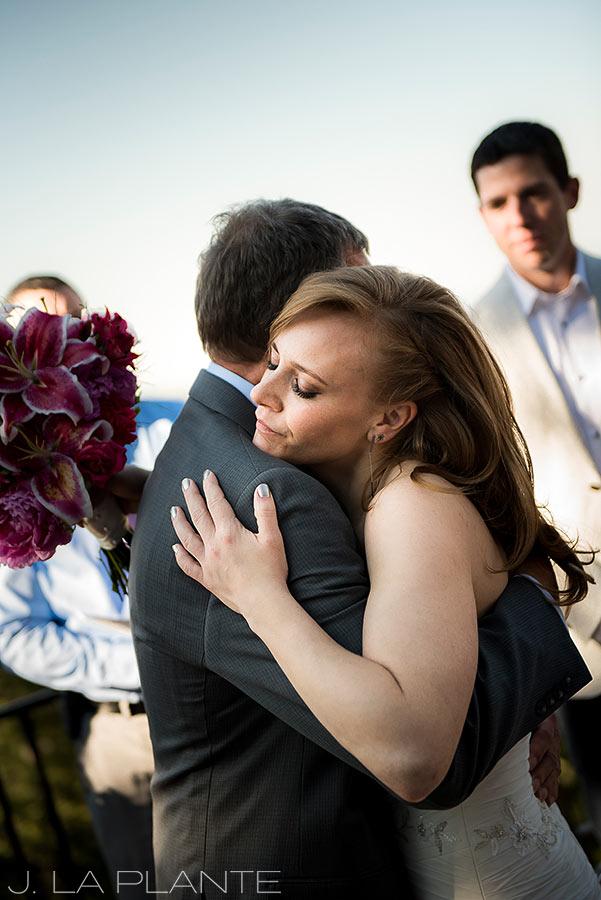 Mount Vernon Country Club Wedding | Bride hugging father | Denver wedding photographer | J La Plante Photo