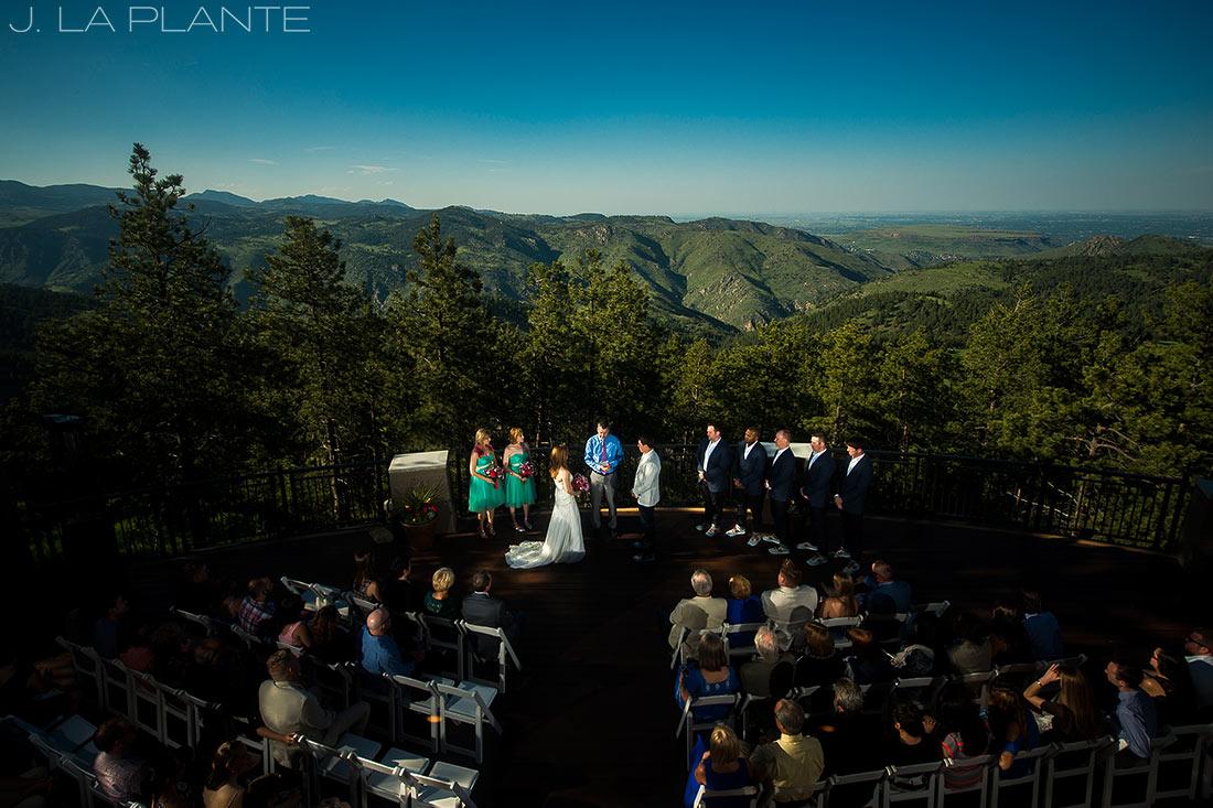 Mount Vernon Country Club Wedding | Mountain wedding ceremony | Denver wedding photographer | J La Plante Photo