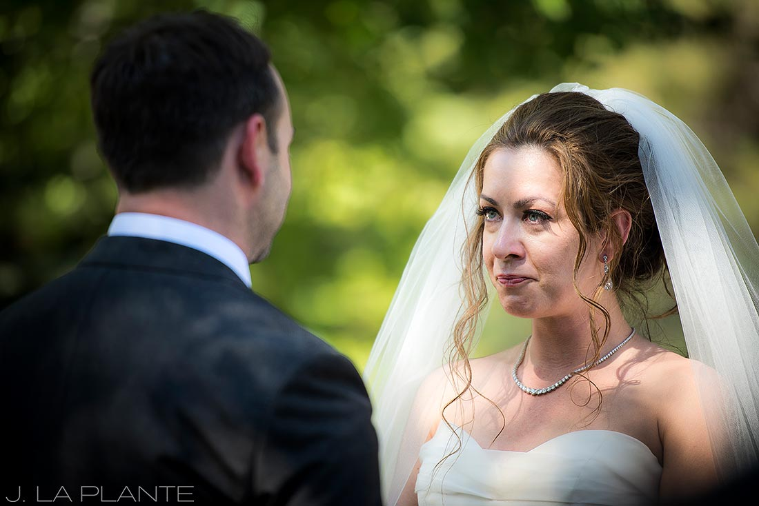 Sonnenalp Wedding | Bride crying | Vail wedding photographer | J La Plante Photo