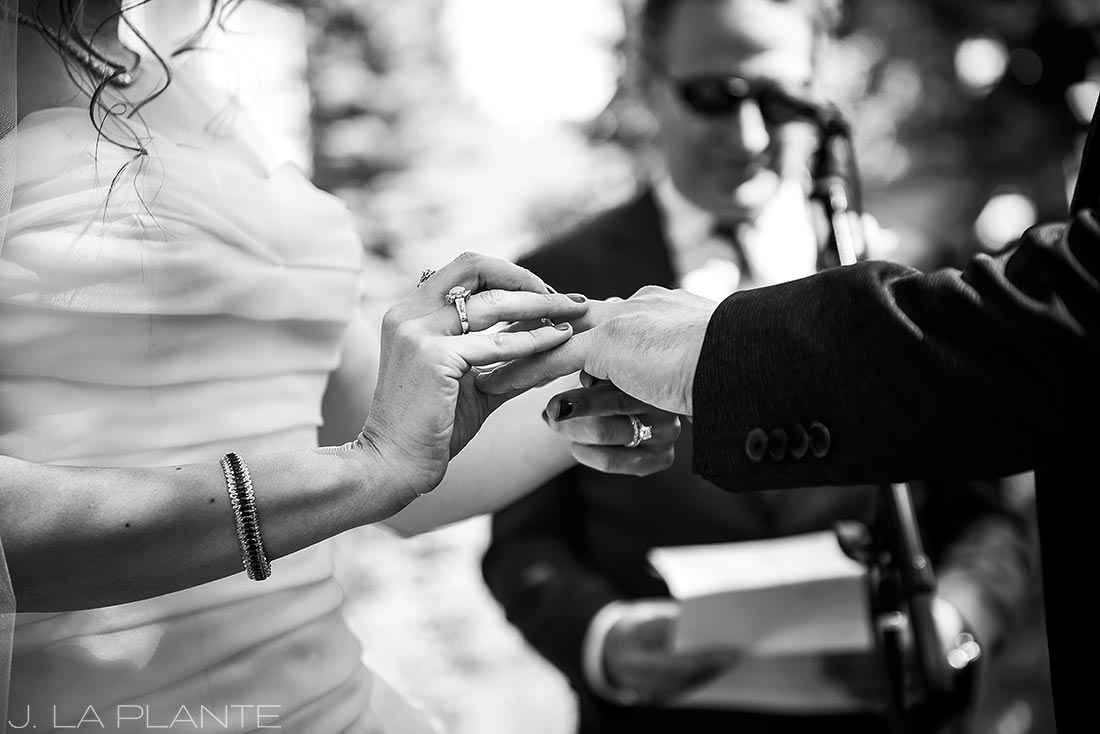 Sonnenalp Wedding | Wedding rings | Vail wedding photographer | J La Plante Photo