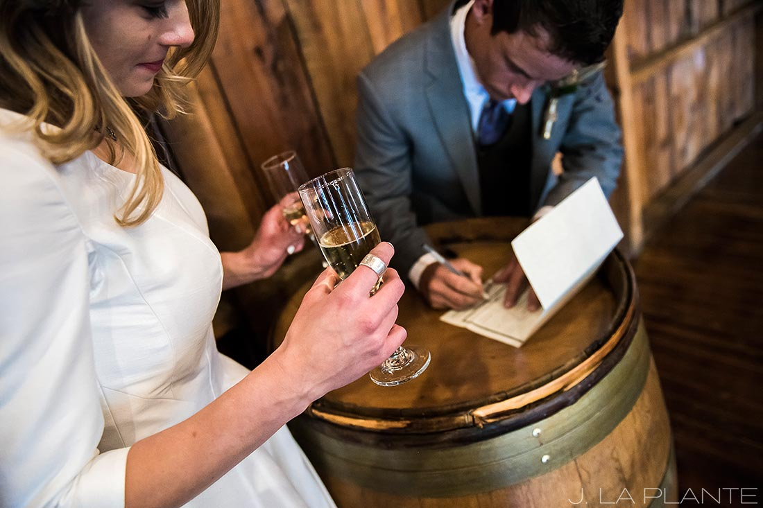 Signing the marriage license | Crooked Willow Farms Wedding | Denver Wedding Photographer | J La Plante Photo