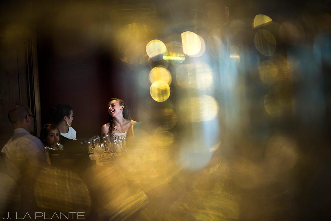Mount Vernon Country Club Wedding | Bride talking to guests | Denver wedding photographer | J La Plante Photo