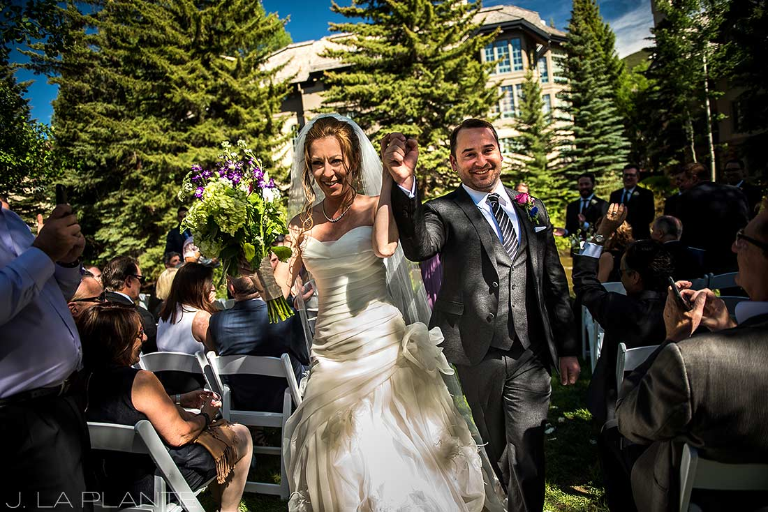 Sonnenalp Wedding | Recessional | Vail wedding photographer | J La Plante Photo