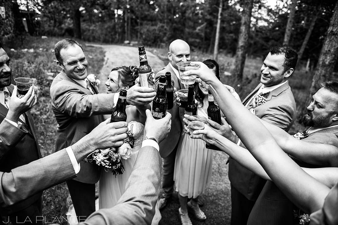 Boettcher Mansion wedding | Wedding party toast | J La Plante Photo | Denver Wedding Photographer