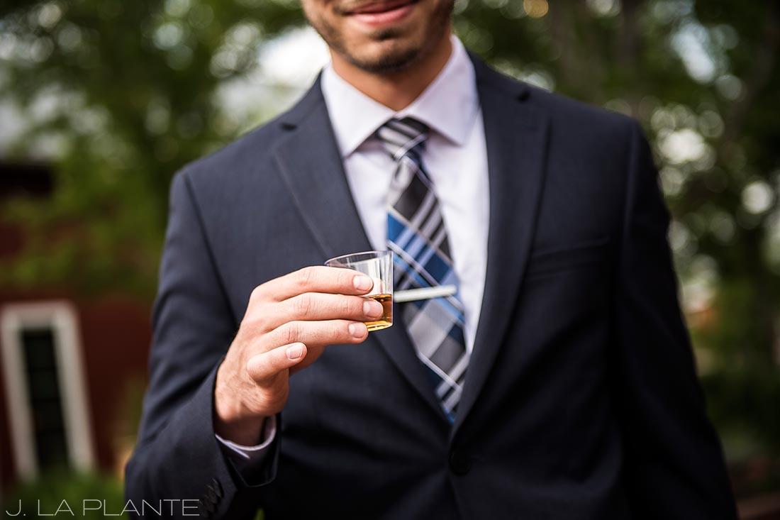 Wedding whiskey tasting | Crooked Willow Farms Wedding | Denver Wedding Photographer | J La Plante Photo