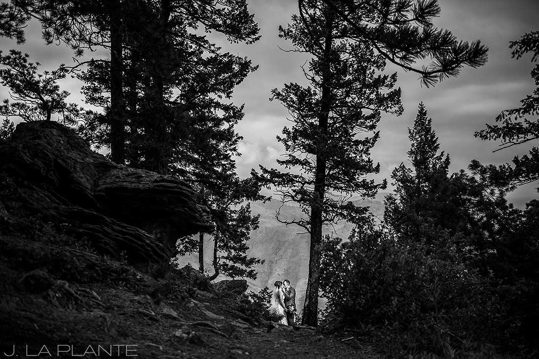 Boettcher Mansion wedding | Bride and groom in mountains | J La Plante Photo | Denver Wedding Photographer