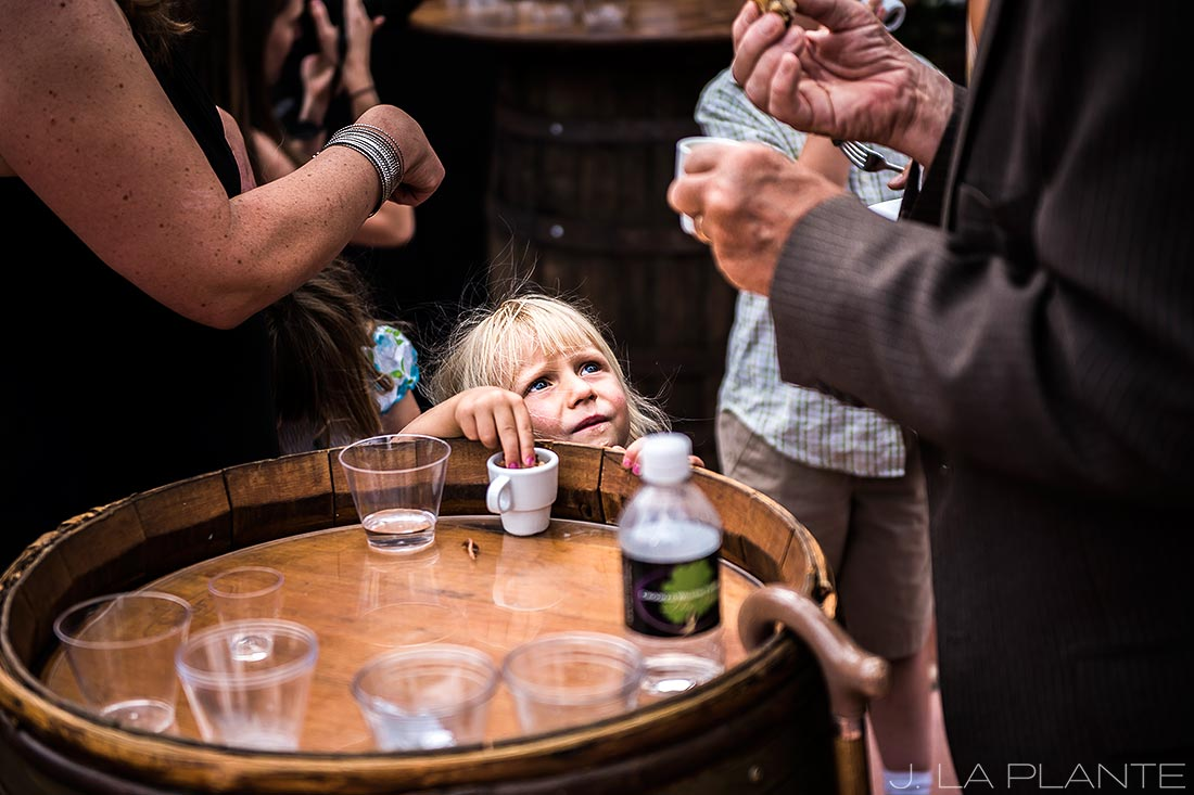 Kids as wedding guests | Crooked Willow Farms Wedding | Denver Wedding Photographer | J La Plante Photo