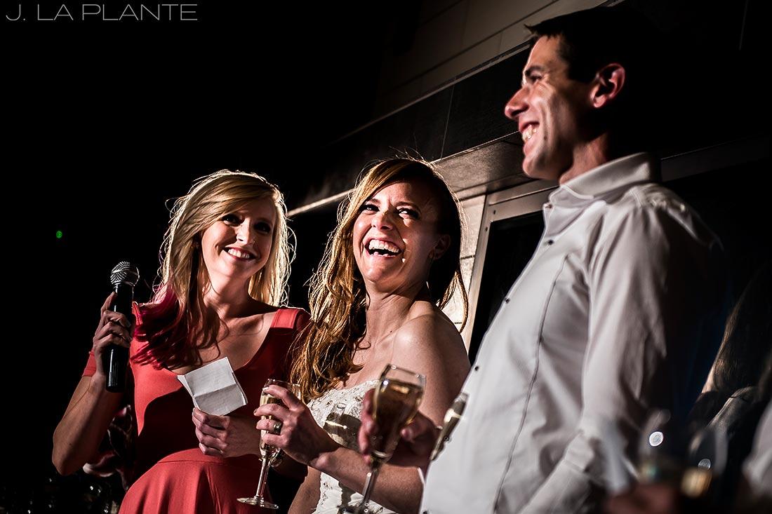 Mount Vernon Country Club Wedding | Maid of honor toast | Denver wedding photographer | J La Plante Photo