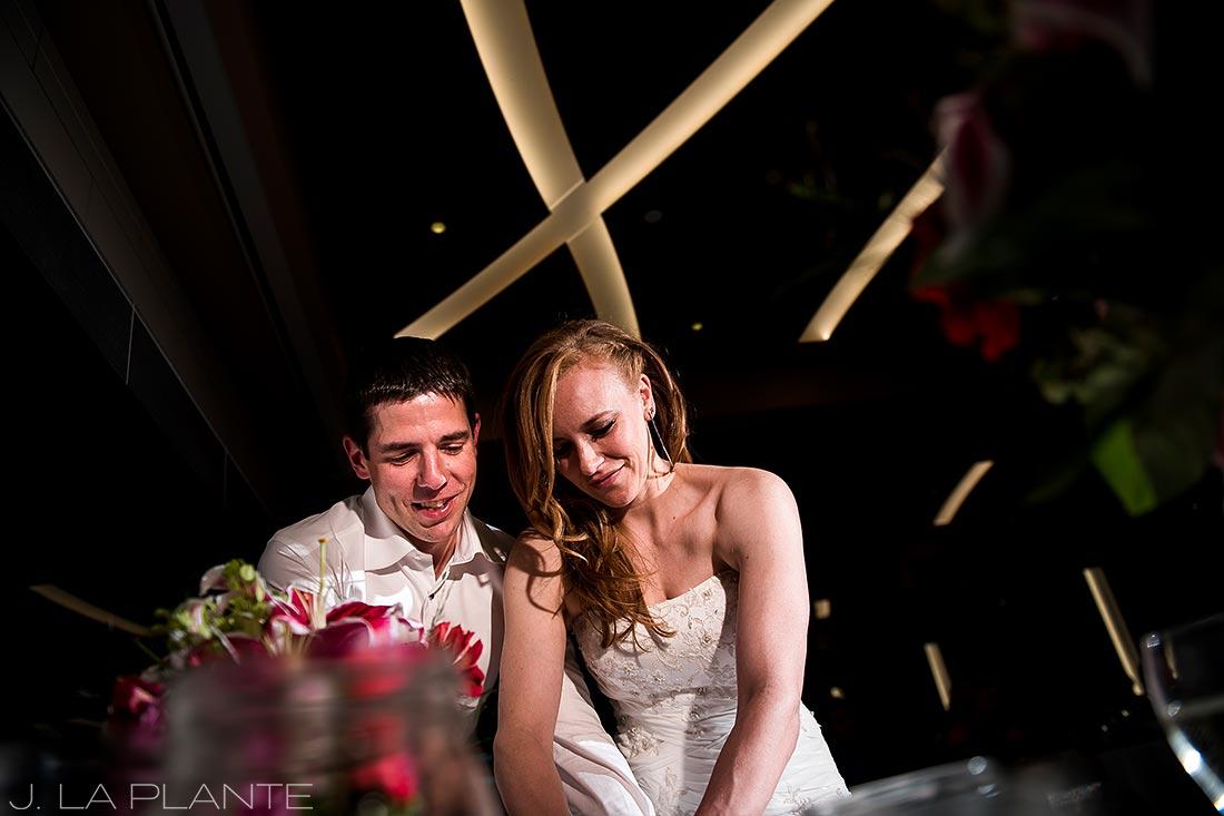Mount Vernon Country Club Wedding | Cake cutting | Denver wedding photographer | J La Plante Photo