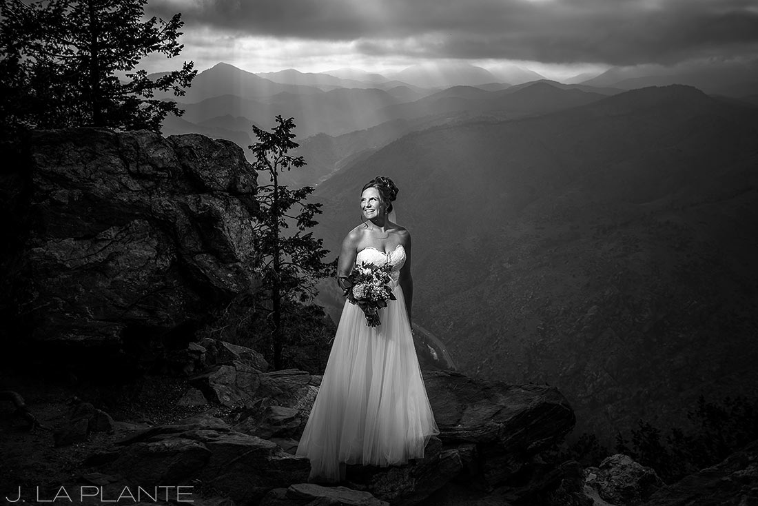 Boettcher Mansion wedding | Bride in the mountains | J La Plante Photo | Denver Wedding Photographer