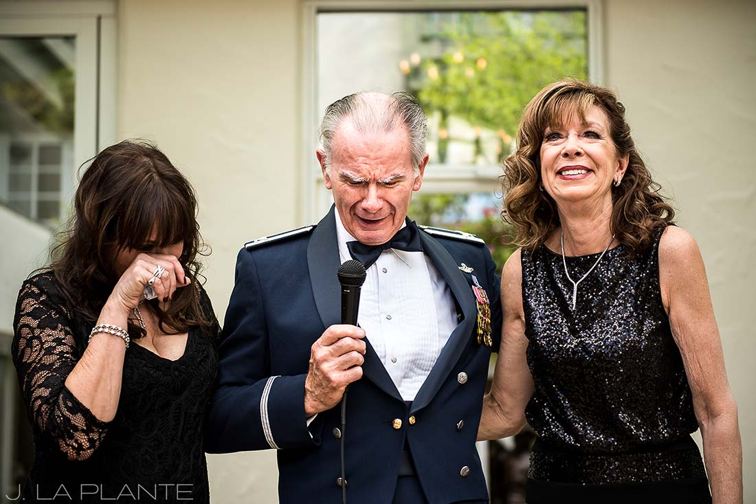Sonnenalp Wedding | Father of the bride speech | Vail wedding photographer | J La Plante Photo