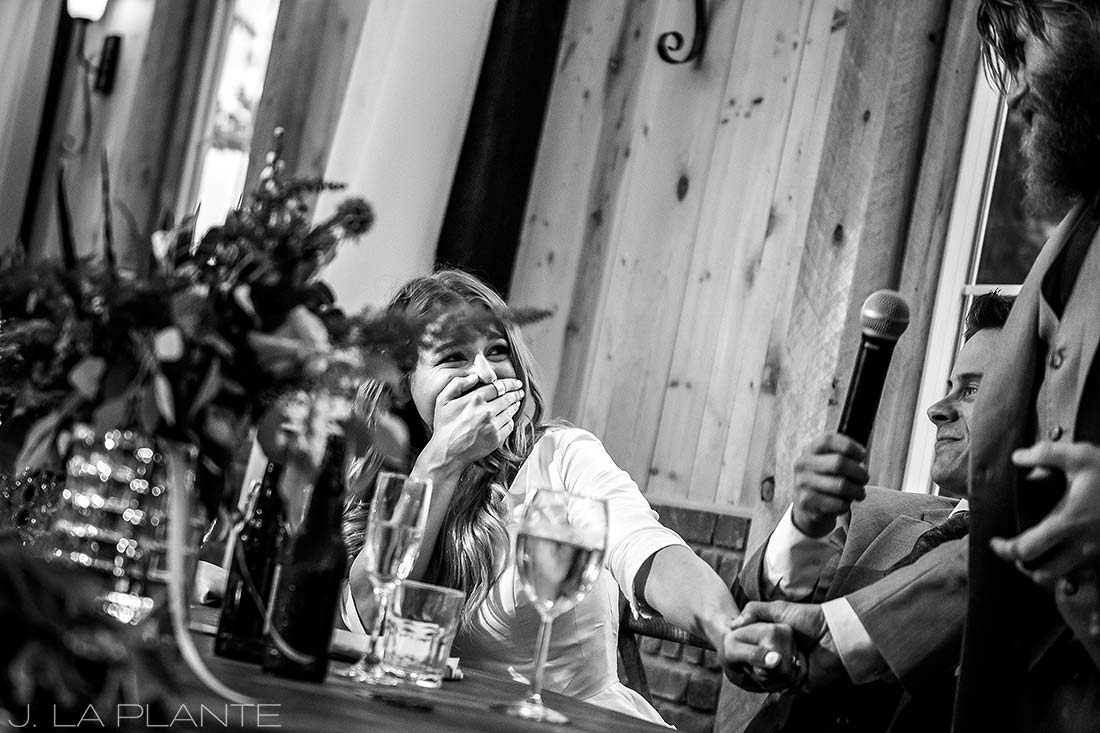 Best man speech | Crooked Willow Farms Wedding | Denver Wedding Photographer | J La Plante Photo