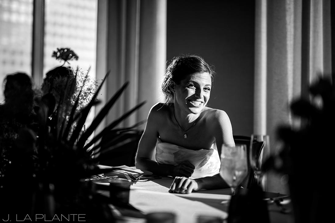 Grand Hyatt Denver Wedding | Bride at reception | Same Sex Wedding Photographer | J La Plante Photo