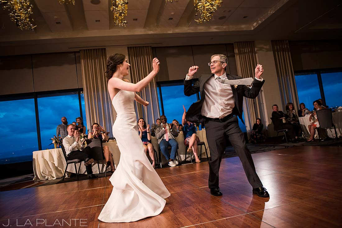 Grand Hyatt Denver Wedding | Father daughter dance | Same Sex Wedding Photographer | J La Plante Photo