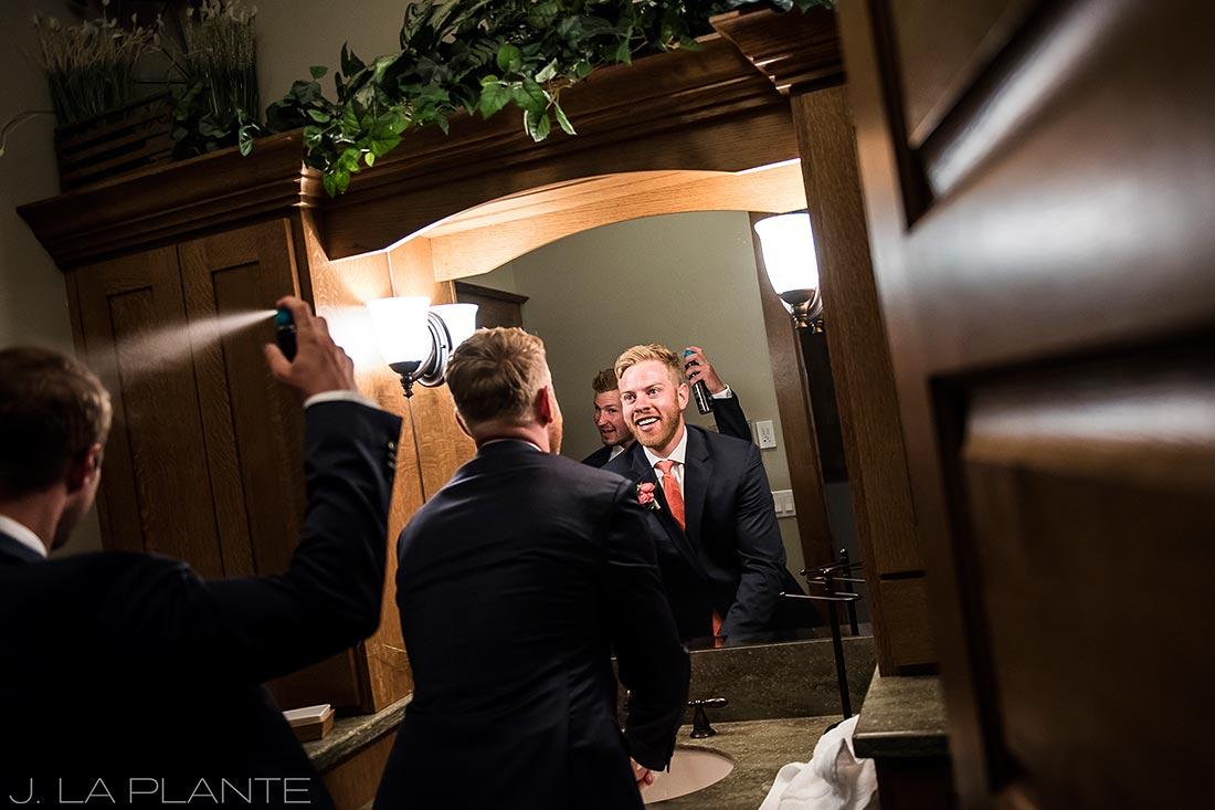 Edgewood Inn Wedding | Colorado Springs Wedding Photographer | Groom getting ready | J La Plante Photo
