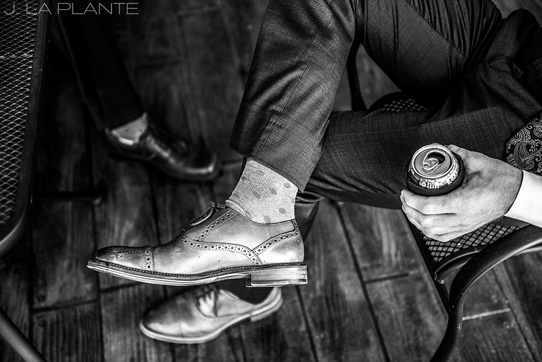 Edgewood Inn Wedding | Colorado Springs Wedding Photographer | Cool groomsmen socks | J La Plante Photo