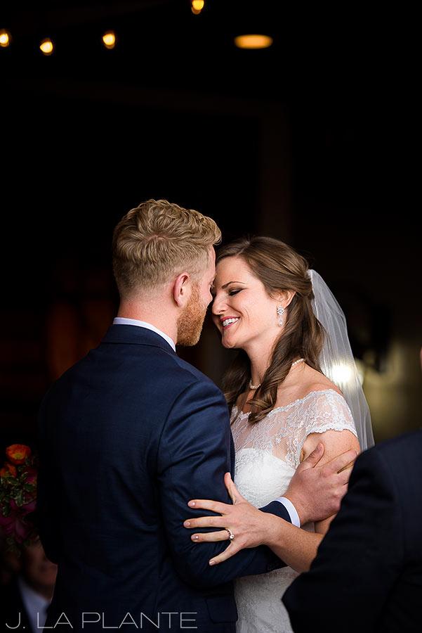 Edgewood Inn Wedding | Colorado Springs Wedding Photographer | First kiss | J La Plante Photo