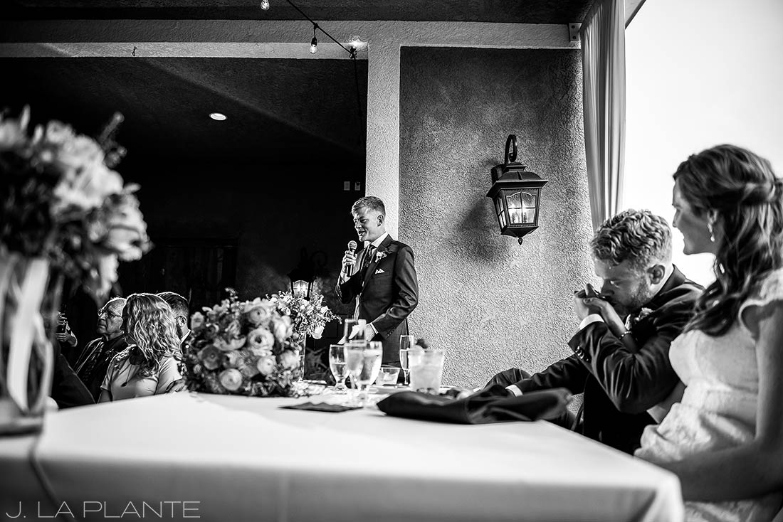 Edgewood Inn Wedding | Colorado Springs Wedding Photographer | Best man speech | J La Plante Photo