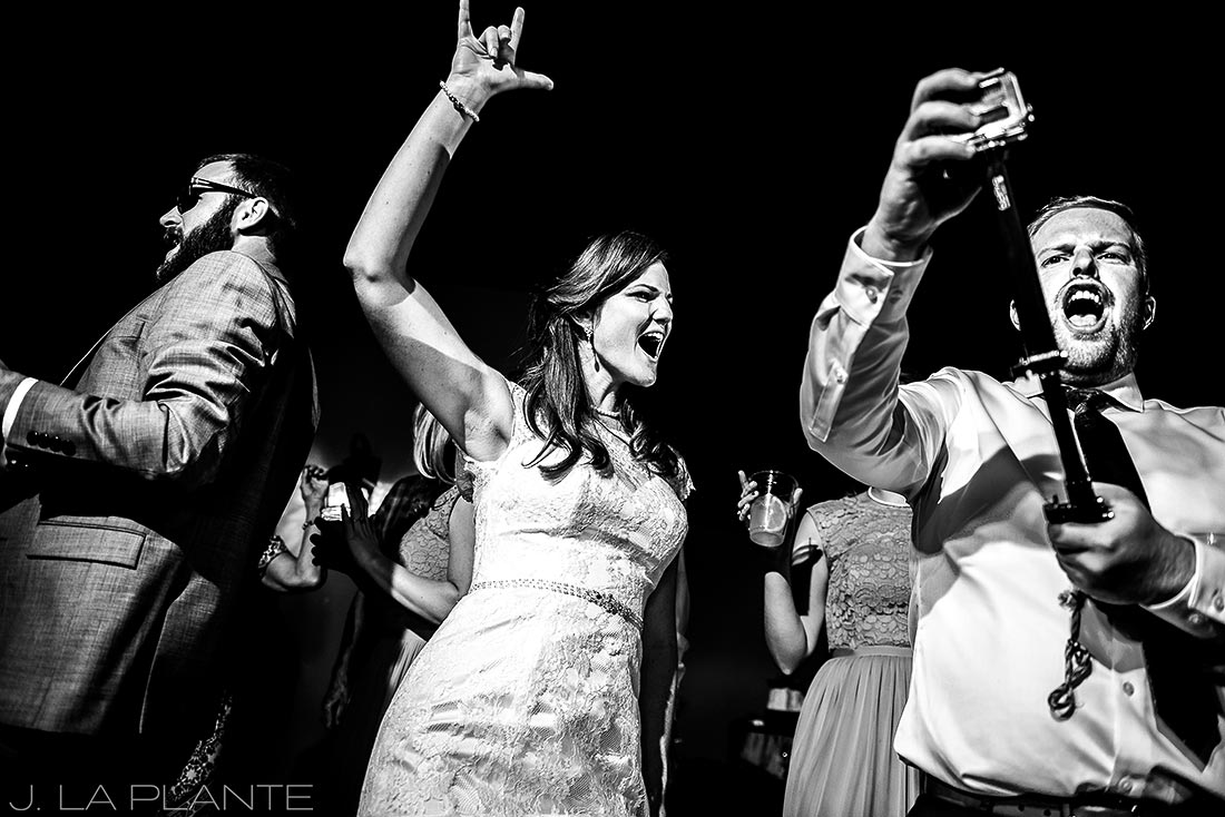 Edgewood Inn Wedding | Colorado Springs Wedding Photographer | Bride dancing | J La Plante Photo