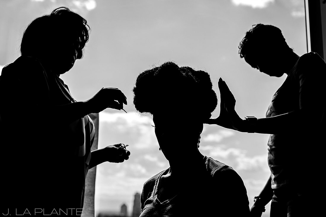 JW Marriott Cherry Creek Wedding | Bride getting ready | Denver wedding photographer | J La Plante Photo
