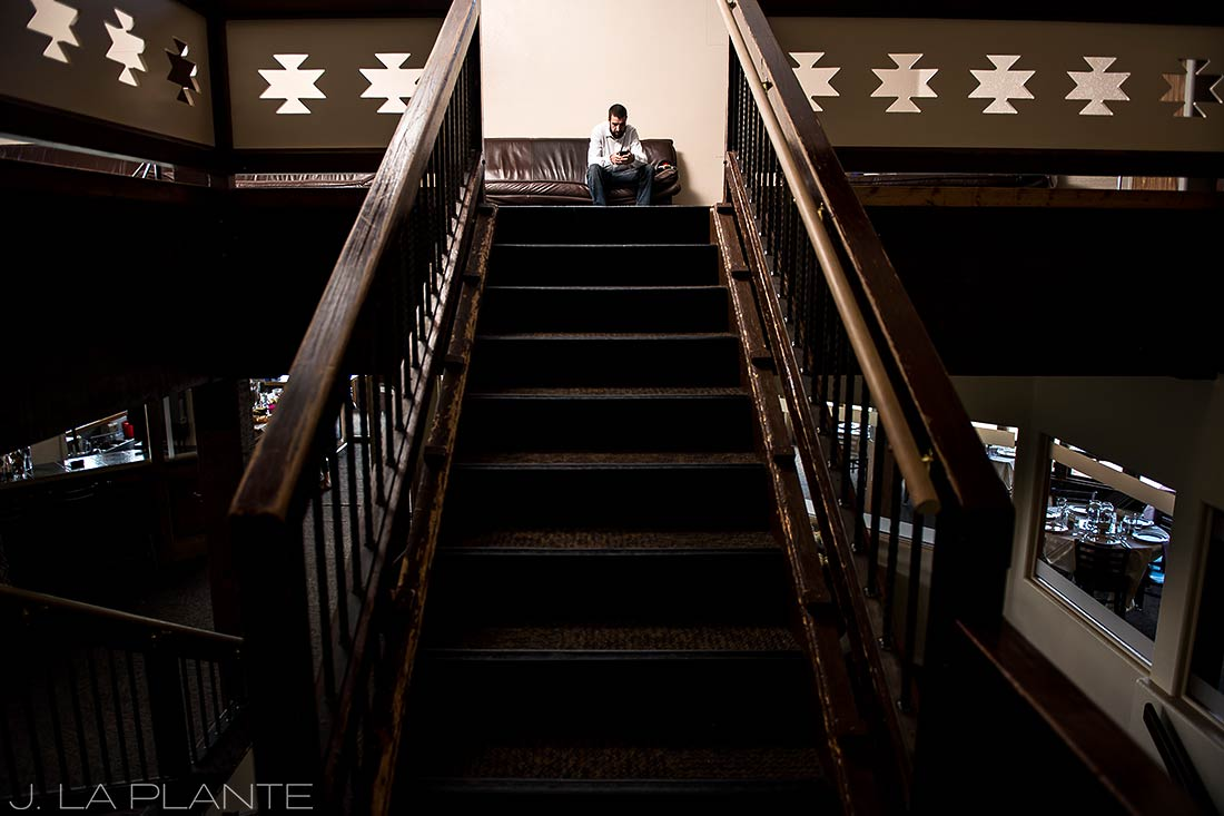 Purgatory Resort wedding | Groom getting ready | Colorado wedding photographer | J La Plante Photo