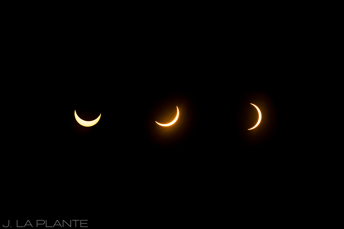 Solar eclipse engagement shoot | Eclipse phases | Vail engagement photographer | J La Plante Photo