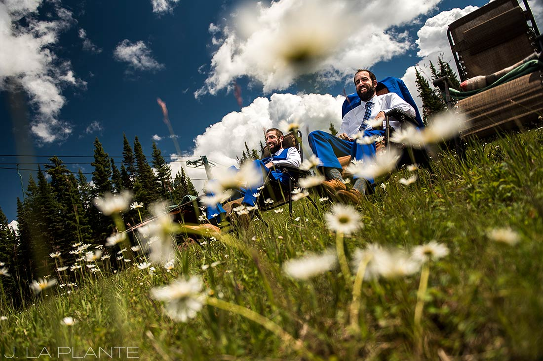 Purgatory Resort wedding | Groom and best man | Colorado wedding photographer | J La Plante Photo