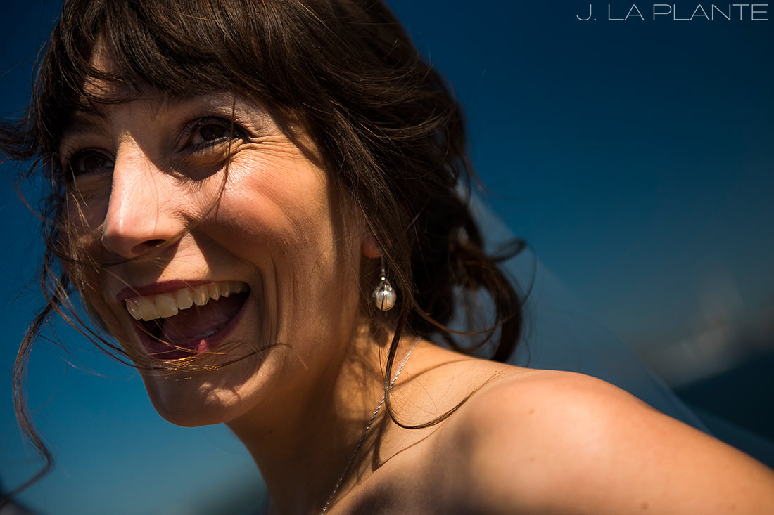 Seattle wedding | Bride laughing | Seattle destination wedding photographer | J La Plante Photo