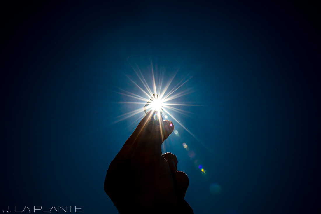Solar eclipse engagement shoot | Engagement ring | Vail engagement photographer | J La Plante Photo