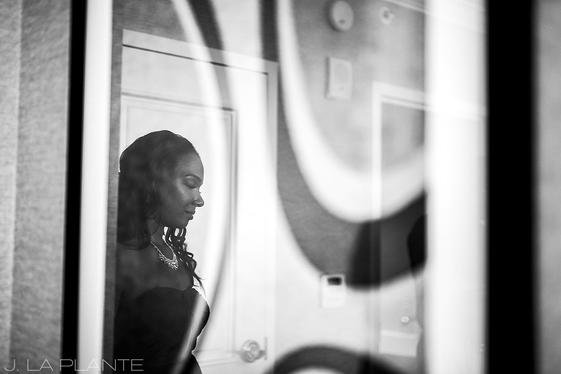 JW Marriott Cherry Creek Wedding | Bridesmaid getting ready | Denver wedding photographer | J La Plante Photo