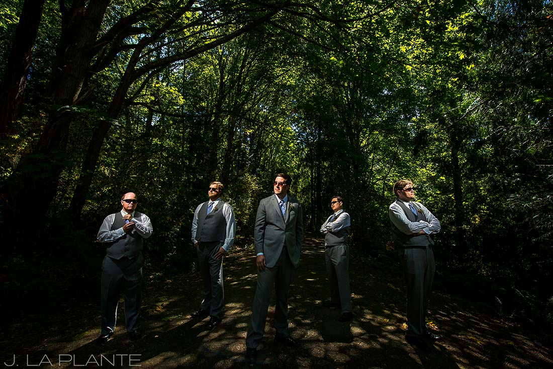 cool portrait of groom and groomsmen