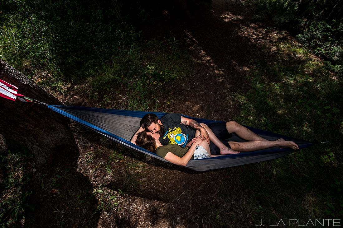 Camping engagement shoot | Vail engagement photographer | J La Plante Photo