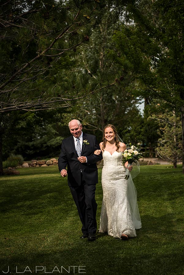Greenbriar Inn wedding | Father walking bride down aisle | Boulder wedding photographer | J La Plante Photo