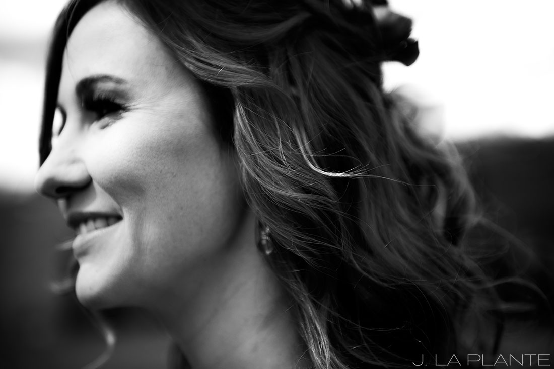 Purgatory Resort wedding | Bride laughing | Colorado wedding photographer | J La Plante Photo