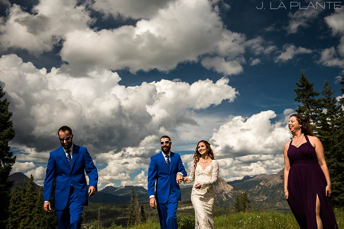 Purgatory Resort wedding | Wedding party | Colorado wedding photographer | J La Plante Photo