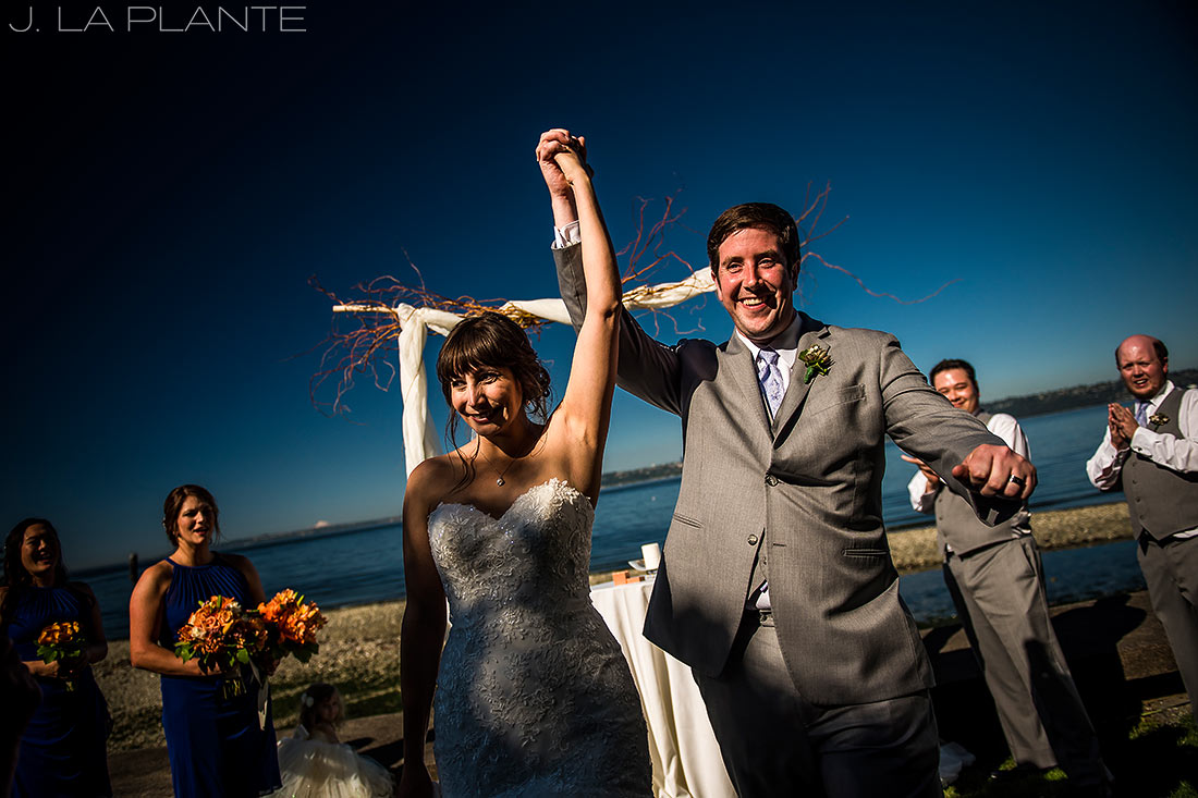 Vashon Island Wedding | Bride and groom after ceremony | Seattle destination wedding photographer | J La Plante Photo