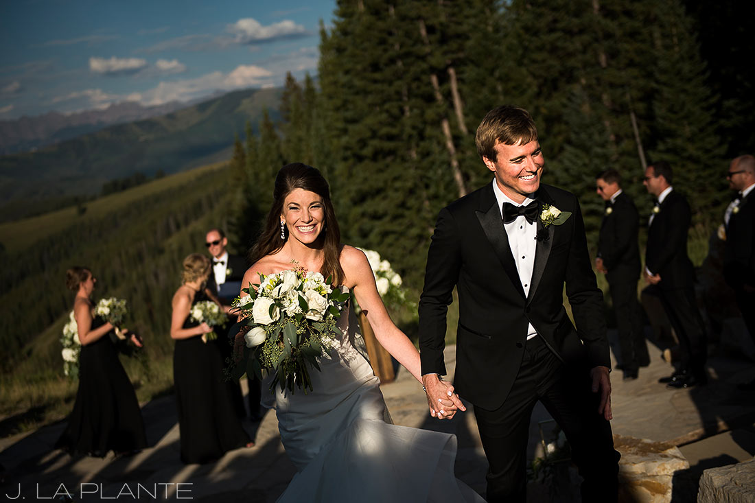 Beaver Creek Wedding deck ceremony | Beaver Creek wedding photographer | J La Plante Photo