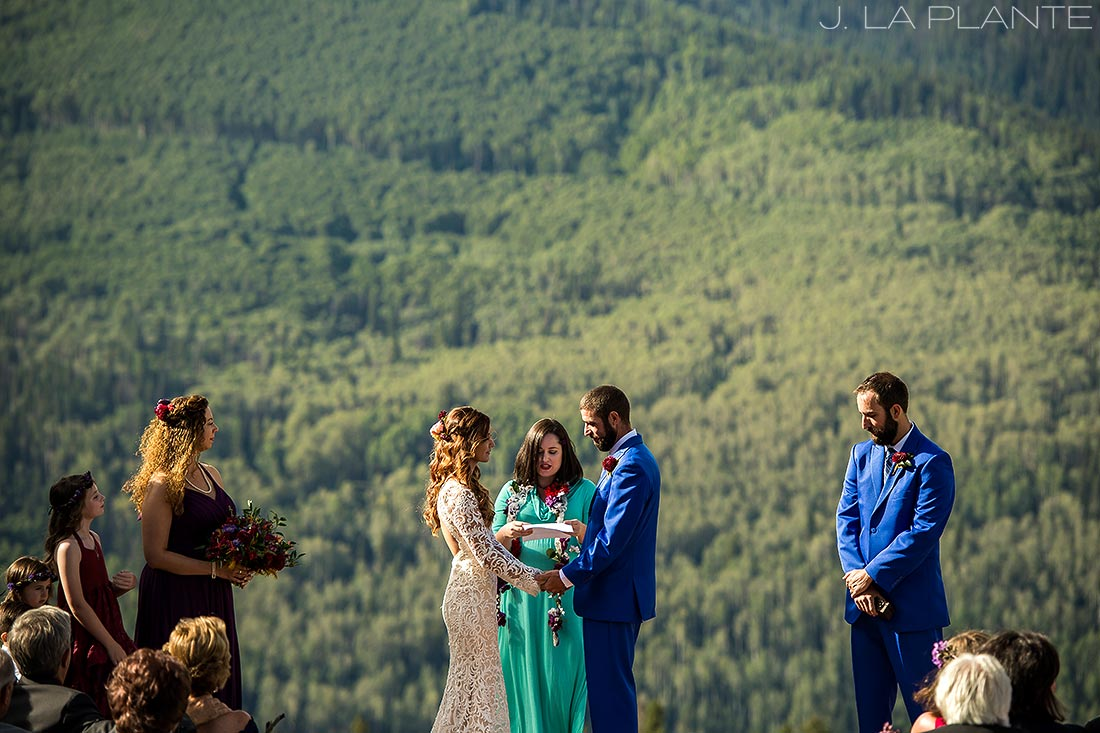 Purgatory Resort wedding | Dante's Peak wedding ceremony | Colorado wedding photographer | J La Plante Photo