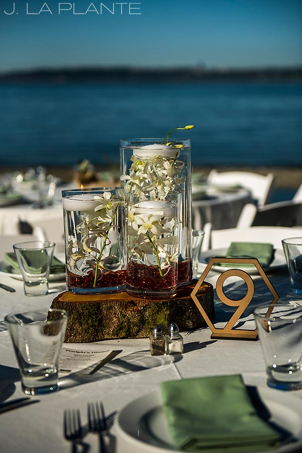 Vashon Island Wedding | Centerpieces | Seattle destination wedding photographer | J La Plante Photo