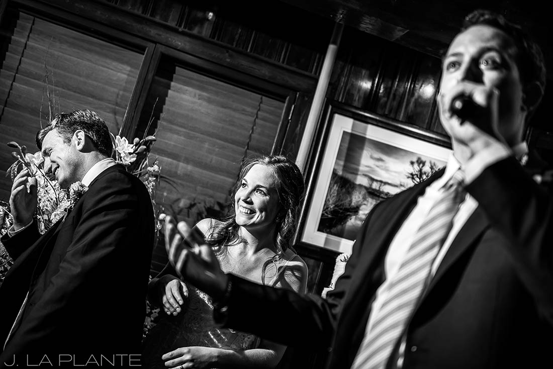 Greenbriar Inn wedding | Best man toast | Boulder wedding photographer | J La Plante Photo