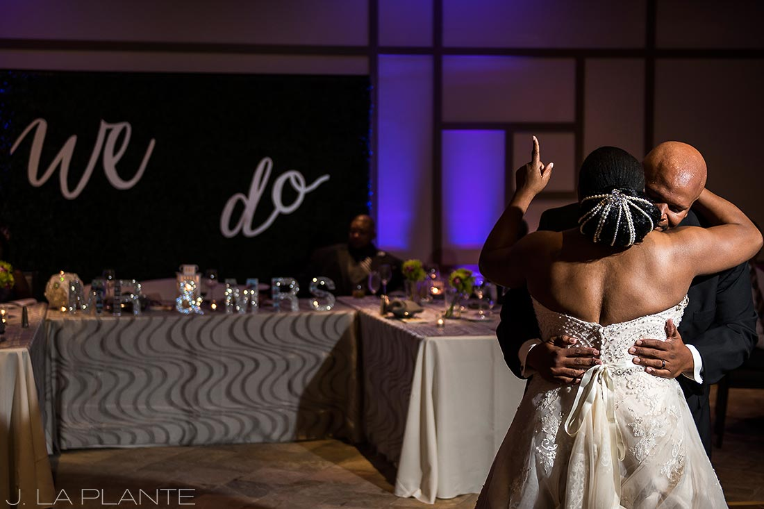 JW Marriott Cherry Creek Wedding | Bride dancing with brother | Denver wedding photographer | J La Plante Photo