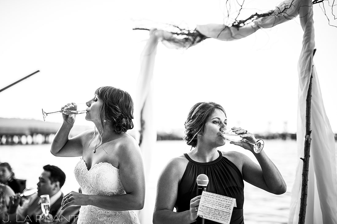 Vashon Island Wedding | Maid of honor toast | Seattle destination wedding photographer | J La Plante Photo