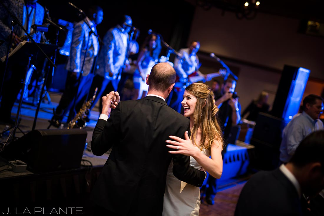 Park Hyatt Wedding | Bride dancing with brother | Beaver Creek wedding photographer | J La Plante Photo