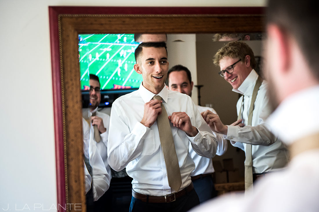 Fall Copper Mountain Wedding | Groom getting ready | Colorado Destination Wedding Photographer | J La Plante Photo