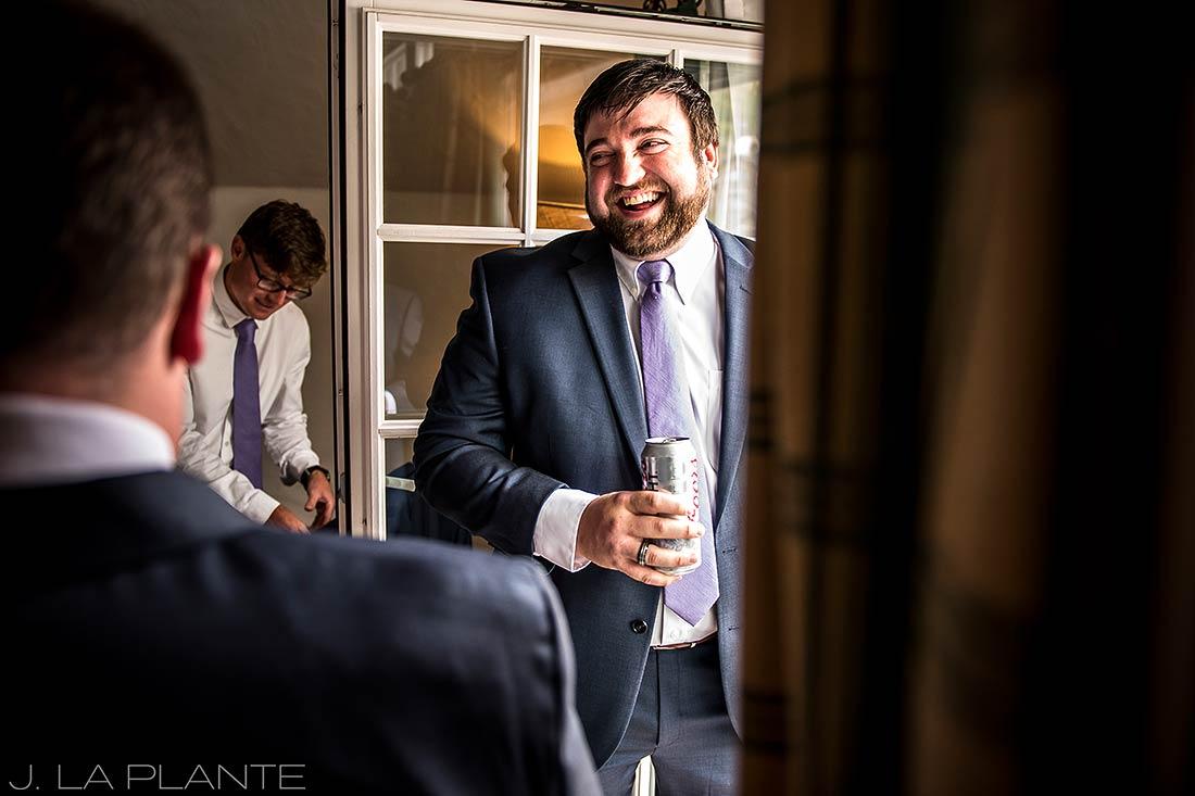 Fall Vail Wedding | Groom getting ready | Vail Wedding Photographer | J La Plante Photo